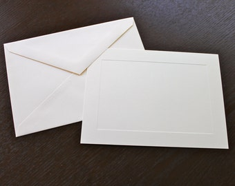 10 ivory panel cards and envelopes, 6-bar