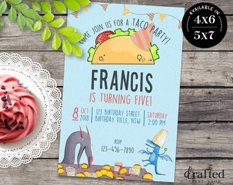 Dragons Love Tacos Invitation, Dragons Love Tacos Birthday, Dragons Love Tacos Card, Dragons Love Tacos Printable, Dragons Love Tacos Party