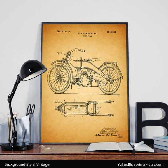 Amazing Harley Davidson Prints Wall Art Ornament - Wall Art ...