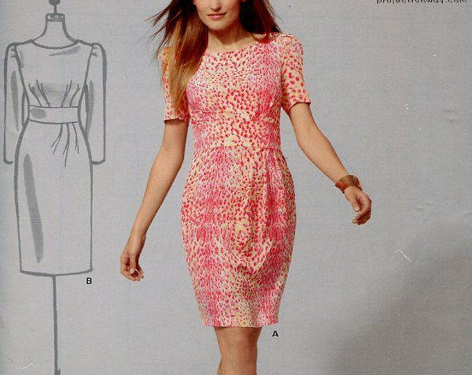 FREE US SHIP New Look 6070 Project Runway Dress Midriff Inset Out of Print Size 4-16 Sewing Pattern Size 4-16 New Condition