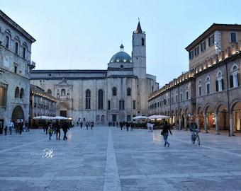 Italy Photography Print, Italy Art Print, Italy Prints, Ascoli Piceno, Italy Travel Photography, Italian Wall Art,Blue wall art, Italy decor