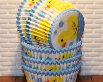 Rubber Ducky Heavy Duty Cupcake Liners (Qty 32) Rubber Ducky Cupcake Liners, Rubber Ducky Baking Cups, Cupcake Liners, Baking Cups
