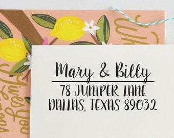 Custom Handwritten Address Stamp | Custom Rubber Stamp | Return Address Stamp | Personalized Wedding Stamp | Return address Wedding, No. 78