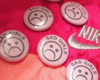 SAD GIRLS // Emotional Pastel Pink Button Yung Lean Sadboys Pin