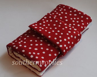 Knitting Needle Case for Interchangeable Tips and Circulars - Lipstick Red
