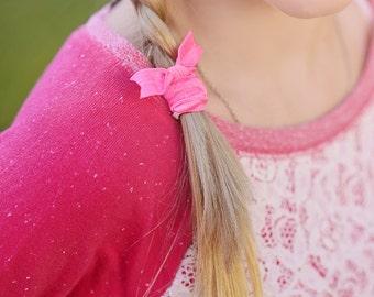Set of 4 Hair Ties, You Pick Hair Tie Colors, Girls Hair Tie, Womans Hair Tie, Ponytail Holder, Elastic Hair Tie, Elastic Ponytail