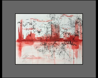Skyline abstract original image
