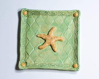 Starfish Tray - Ring Dish - Trinket Tray - Handmade Ceramic