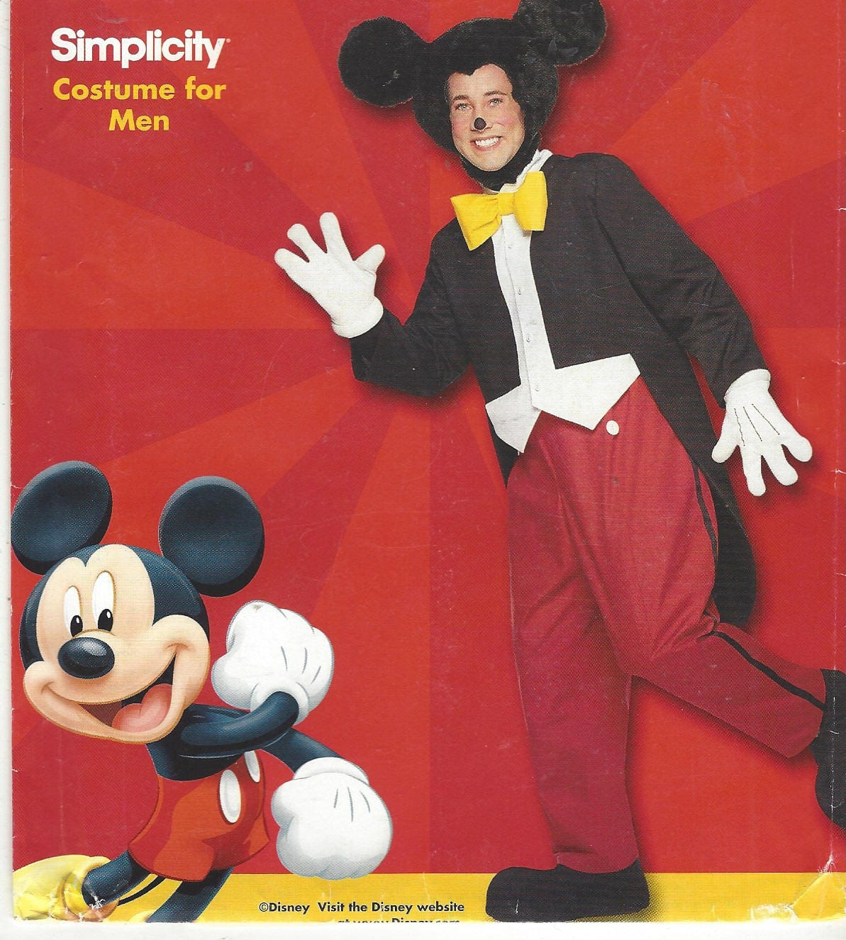 Sold by CloesCloset  sc 1 st  Etsy & Rare Mens Mickey Mouse Costume Jacket Pants Shoes Gloves u0026 Hat ...