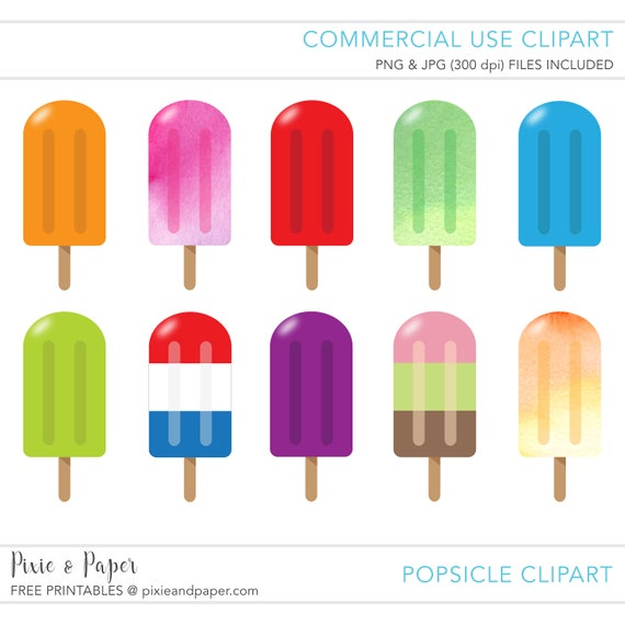 commercial use clipart commercial use clip art popsicle rh etsy com clipart popsicle stick popsicle clip art black and white