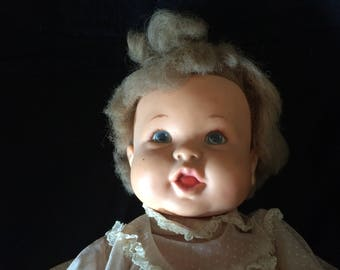 Vintage Doll, Vinyl Doll, Ideal Rub-a-Dub Doll - 1970