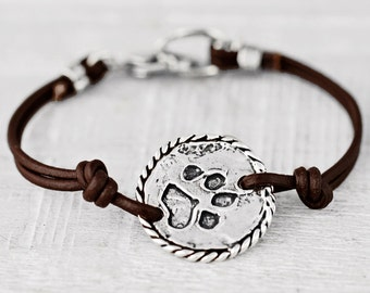 Love & Paws Bracelet -Dog Paw Bracelet - Puppy Jewelry - B478
