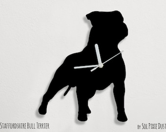 Staffordshire Bull Terrier Dog - Wall Clock
