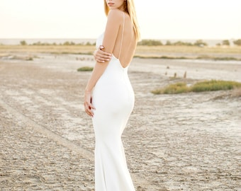 simple wedding dress, wedding dress, bridesmaid dress