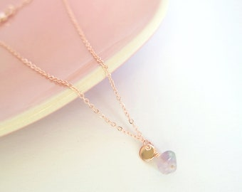 Lilac Purple Ankle strap//Rose Gold//fluorite ankle strap//Opal pendant//special//Summer haves for girls//elegant