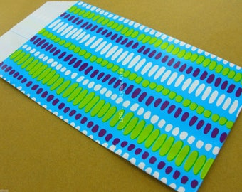 25 pockets gift Turquoise 7X12cm Fab Graphic Design paper. French #EMB21
