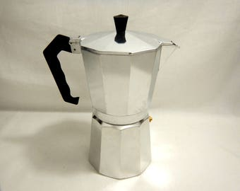Pristine 8 Cup 1.5 oz Size Shot Espresso Stovetop Coffee Maker Pot Aluminum