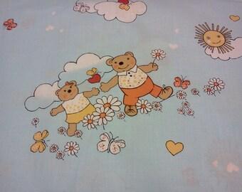 Fabric nice sleeping Bears Sunny day sky blue fabric Kids Cotton Fabric Scandinavian Design Scandinavian Textile