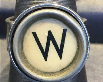 W adjustable typewriter key ring