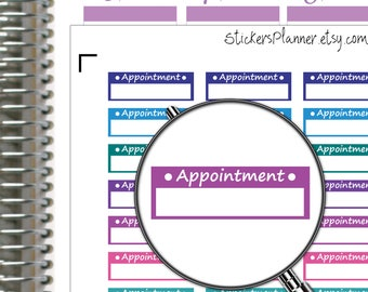 Appointment Stickers Appointment Planner Stickers for Erin Condren Planner Happy Planner Functional Planner Appointment Box Stickers (n1c-2)