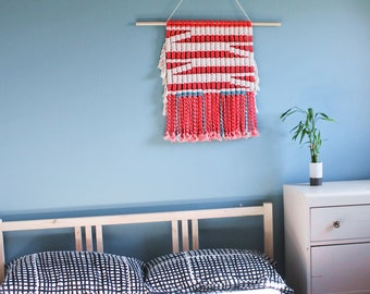 FREE SHIPPING>>>>Handmade/dyed 100% Cotton Macrame Wall Hanging- Ready to Ship