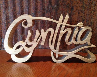 Wooden Cutout Names Wood Wall Letters Wood First Names Baby Shower Gift Painted Wood Cursive Letters Babys Nursery Decor Last Name Wedding