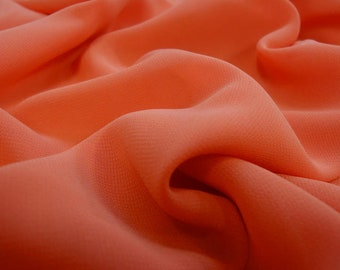 "Orange fine chiffon fabric lightly falling fabrics, ""fabrics-City"", 3468"