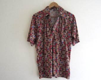 Vintage 1970s Mens Resort Ware Shirt - Size L