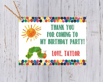Very Hungry Caterpillar Birthday Small Favor Tag