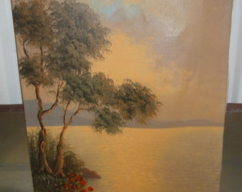 Vintage Oil Painting/ Signed Marco