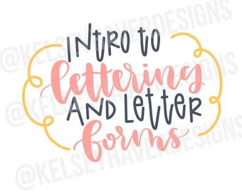 Intro to Lettering & Letter Forms Workbook Digital Download