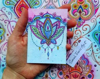 Mini Lotus Flower Print - ACEO size