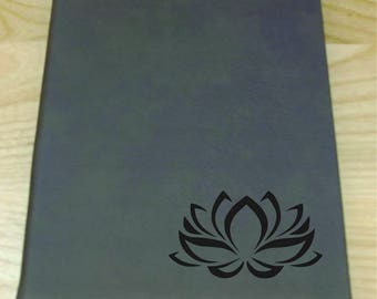Lotus Flower Leatherette Journal - Free Shipping!
