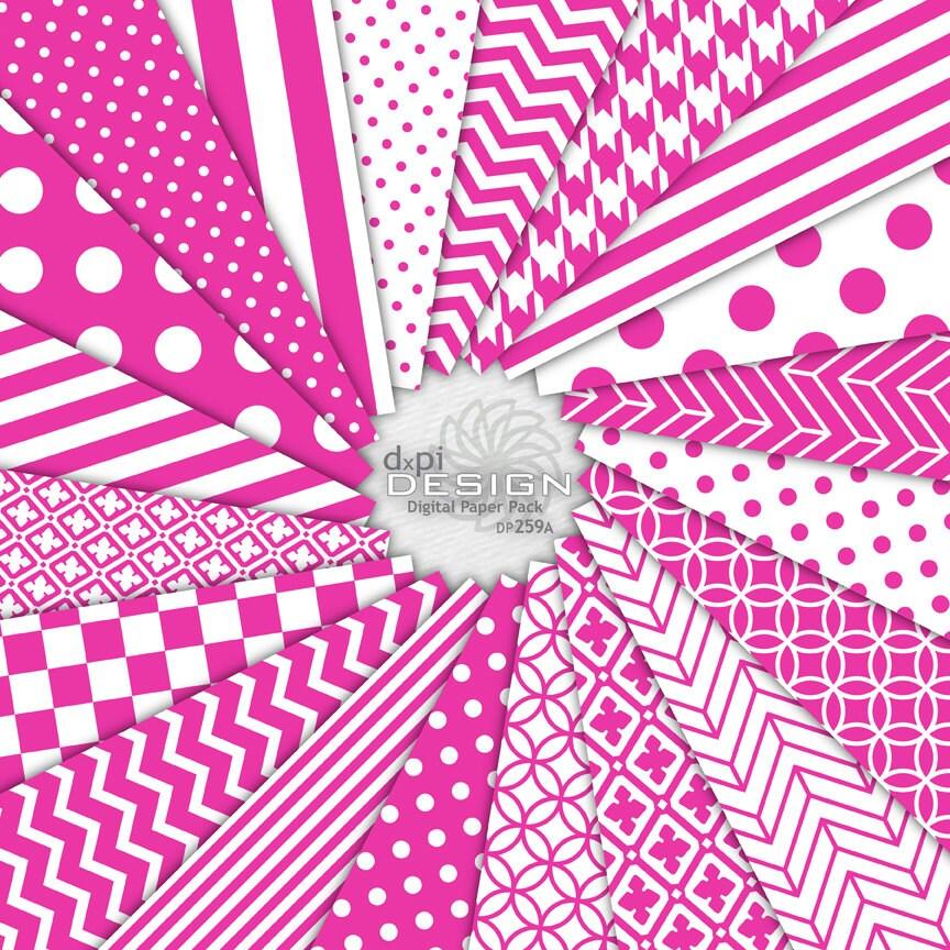 HOT PINK Digital Scrapbook Paper Printable Background