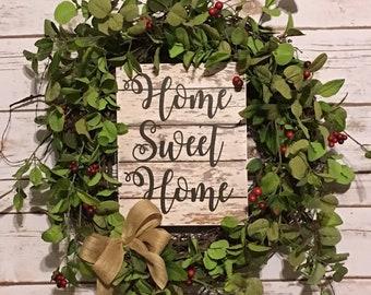 Grapevine Wreath,Wreath,Front Door Wreath,Primitive Wreath,Front Door Decor,Berry Wreath,Farmhouse Wreath