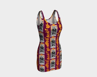 Floral Tarot Print - The Emperor - Bodycon Dress