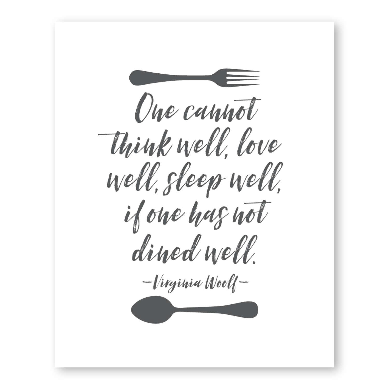Virginia Woolf Zitat Küche Poster Küche Print