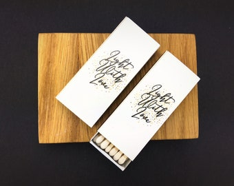 Set of 50 Light With Love Matchboxes * Personalized Matches * Custom Matches * Personalized Match box * Party Favor Matches * Matches