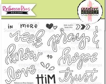 Seek Him Bible Journaling Faith Stamps