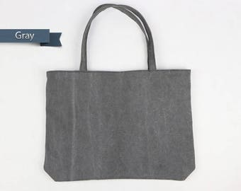 Gray Tote bag,canvas tote bag,Zipper Tote Bag,mom tote bag,gift