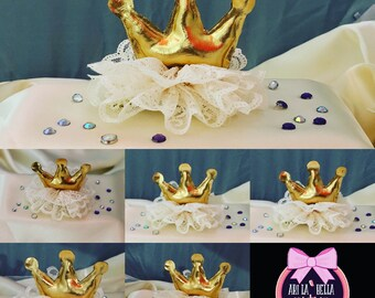 Custom crown hair clips