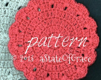 Pdf dishcloth pattern for hand knit heirloom round dishcloth dishcloth pattern 3 washcloth coaster doily hotpad crochet instant download dt1010fo
