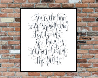 Strength And Dignity Print - Proverbs 31:25