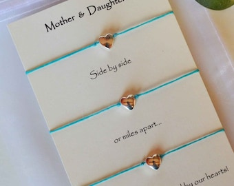 mother and daughter bracelets, mother daughter mothers day bracelets, mother daughter graduation bracelet set, mother daughters bracelet set