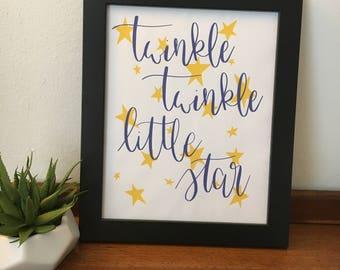 Twinkle Twinkle Little Star, 8x10 print