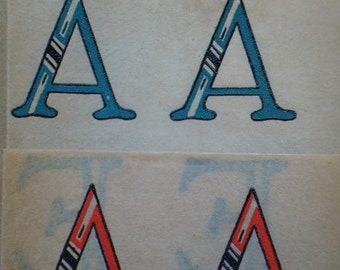 Walker MAGIC TRANSFERS No 3 Alphabet Vintage Hot Iron Transfers