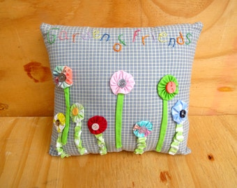 Vintage pillow novelty pillow small floral pillow