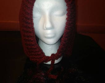 Little Red Riding Hood with Faux Fur Pompoms