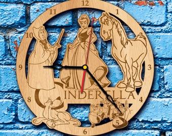 Princess Cinderella art Clock Princess Cinderella cinderella gifts Prince Charming cinderella print fairy godmother costume cospaly