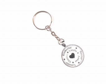 Keychain personalized with names